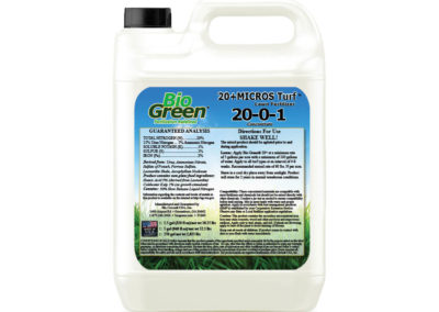 Bio Green® 20+MICROS Turf™ Lawn Fertilizer 20-0-1